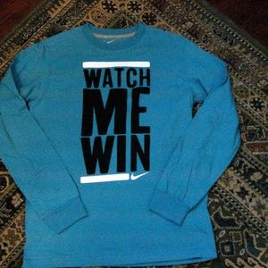 Nike Blue Watch Me Win Child Large Long Sleeve